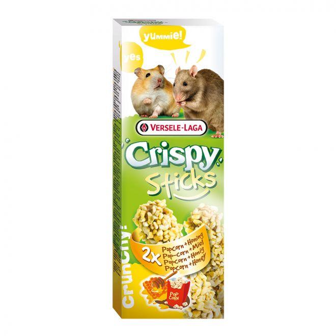 Versele-Laga Crispy Sticks Hamster-Råtta Popcorn & Honung 2 pack 100g (110 gram)**