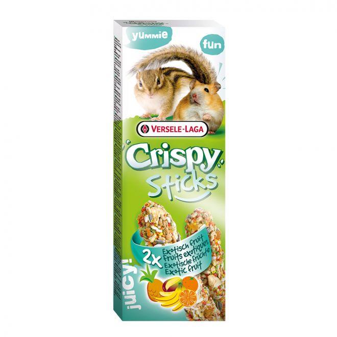 Versele-Laga Crispy Sticks Hamster-Ekorre Exotisk frukt 2pack 110g (110 gram)**