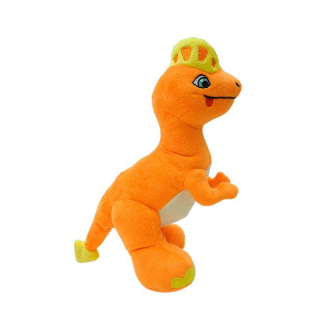 Little&Bigger Dino Hundleksak Orange