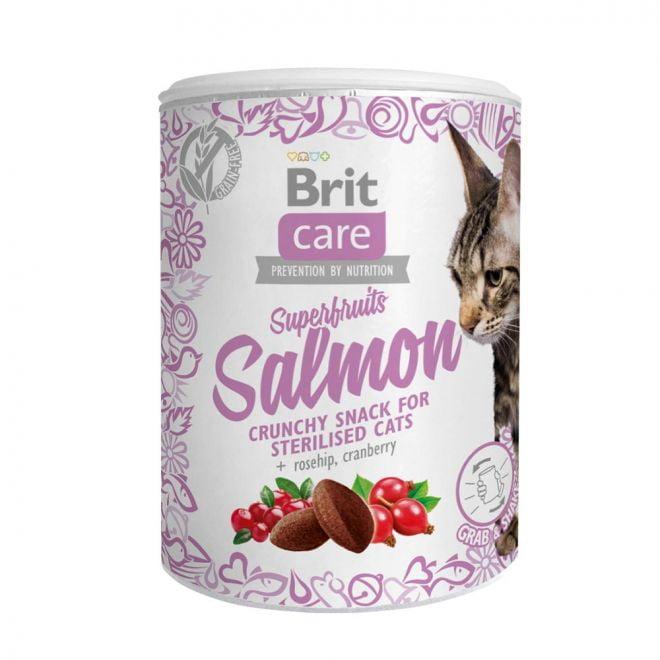 Brit Care Cat Snack Superfruits Salmon 100g (100 gram)**