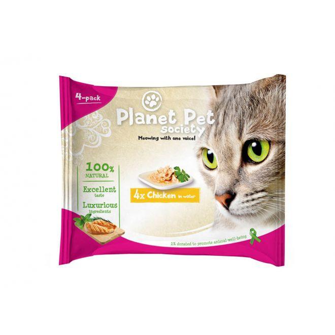 Planet Pet Society Kyckling i vatten (4x50 g)**