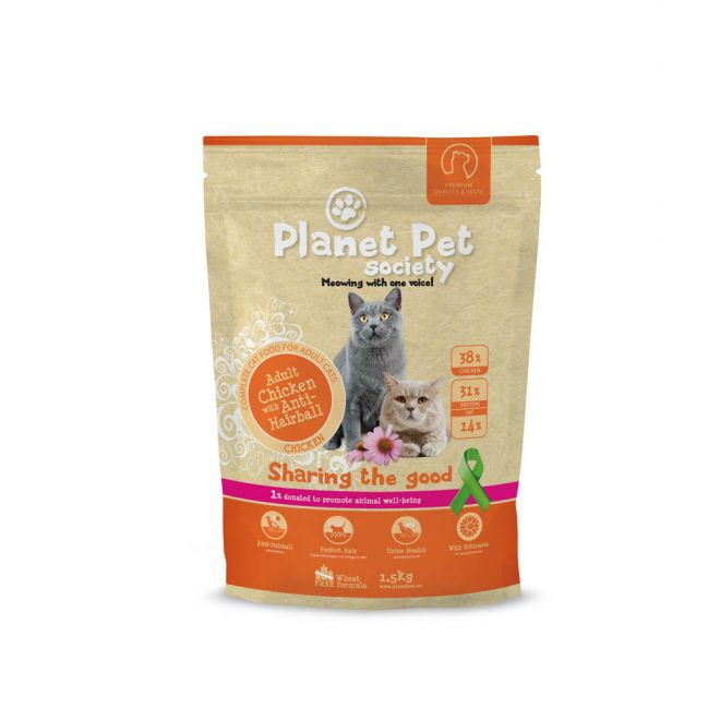 Planet Pet Society Cat Adult Chicken & Anti Hairball