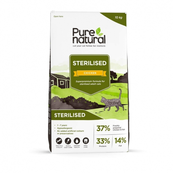 Purenatural Cat Adult Sterilised Chicken (10 kg)