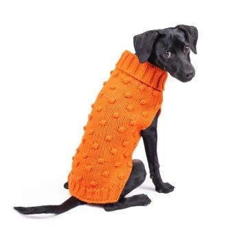 Koiran neule Basic Bobble oranssi