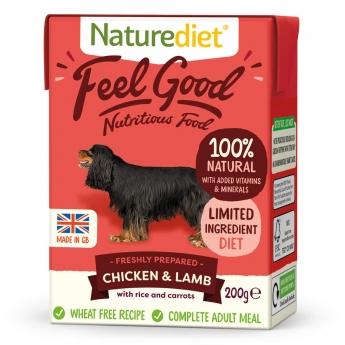 Naturediet Feel Good kana & lammas (200 g)