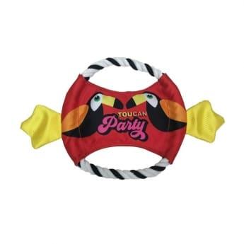 Koiran lelu Bark-a-Boo Word Up tukaani frisbee