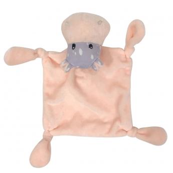 Lelu B-a-B MiniPaws Comforter hippo