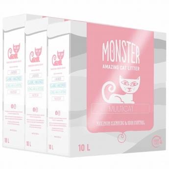 Kissanhiekka Monster Multicat 3 x 10l