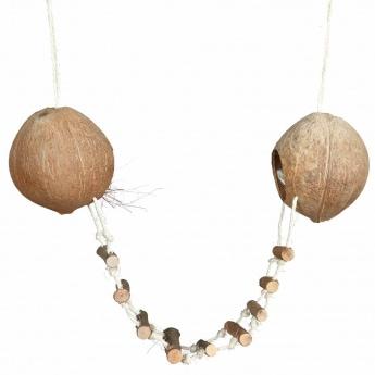Kookospesä 2 kookosta Trixie 13x100 cm