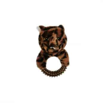 Koiran lelu Bark-a-Boo JungleLuxe Leopardi piikkirenkaalla