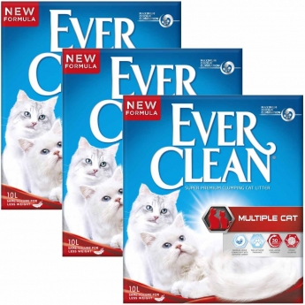 Kissanhiekka Ever Clean Multiple Cat, 3x 10l