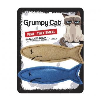 Kissan lelu Grumpy Cat Sardiinit, 2 kpl