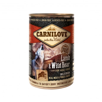 Carnilove Wild Meat lammas & villisika 400g
