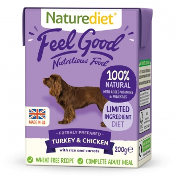 Naturediet Feel Good kalkkuna & kana (200 g)