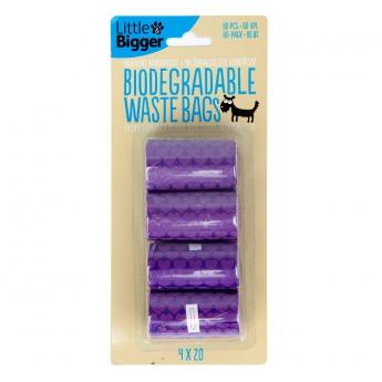 Biohajoavat kakkapussit L&B violetti