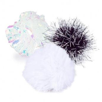 Kissan lelu Little&Bigger PurePurr glitterpallot 3 kpl