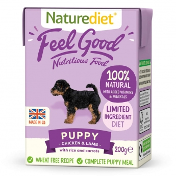 Naturediet Feel Good Puppy kana & lammas (200 g)