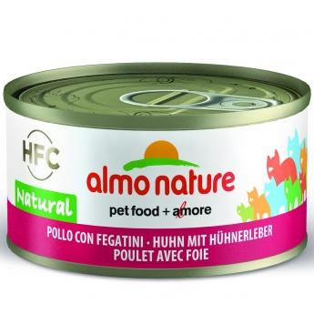 Almo Nature HFC -kissan märkäruoka, kana ja maksa 70 g