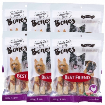 Best Friend Bones herkkuluupatukka kanafileellä 12cm 6 x 200g