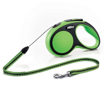 Flexi New Comfort Cord M, 5 m / 20 kg (Vihreä)