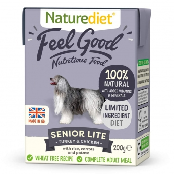 Naturediet Feel Good Senior Lite kalkkuna & kana (200 g)