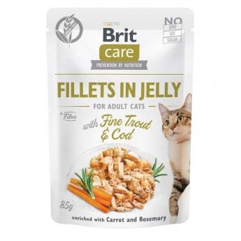 Brit Care Jelly taimen & turskafilee hyytelössä 85 g