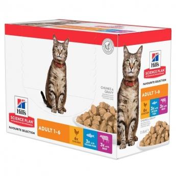Hill's SP Feline Favourite Multipack 12 x 85 g