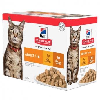 Hill's SP Feline Poultry Multipack 12 x 85 g