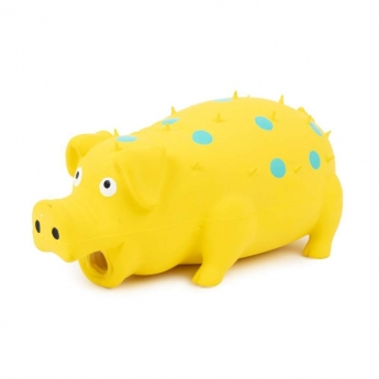 Little&Bigger Latex Spotted Pig Yellow 15 cm (Keltainen)