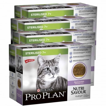 Pro Plan Cat 7+ Turkey Multipack Wet 4 x 10 pss / á 85 g