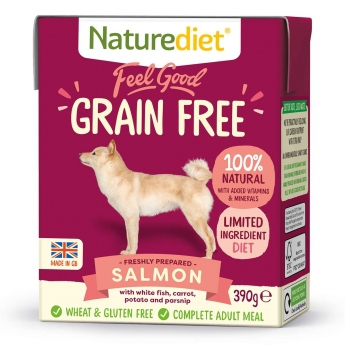 Naturediet Grain Free lohi (390 g)