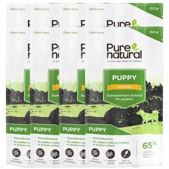 Purenatural Puppy kana&riisi 8 x 150g
