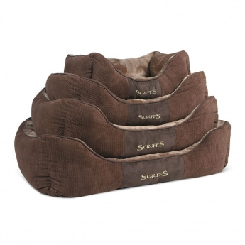 Peti Scruffs Chester Box Bed, ruskea