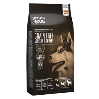 PrimaDog Grain Free Venison & Turkey 10 kg