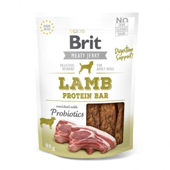 Brit Care Jerky Protein Bar lammas (80 g)