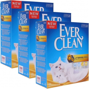 Kissanhiekka Ever Clean Litterfree Paws, 3x 10 l