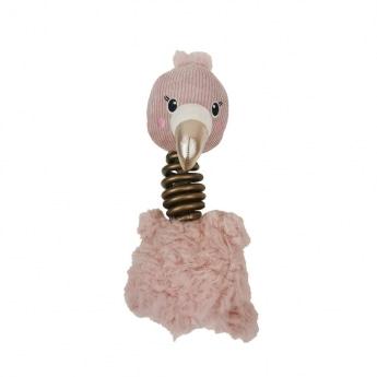 Koiran lelu Bark-a-Boo BerryFrost SpiralNeck Flamingo