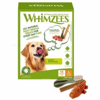 Säästöpakkaus Whimzees L, 14kpl