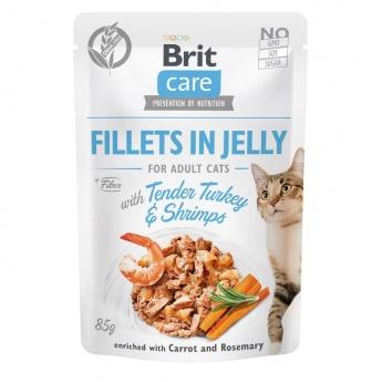 Brit Care Jelly kalkkunafilee & katkarapu hyytelössä 85 g