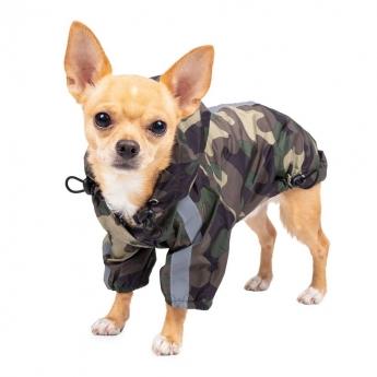 Koiran sadetakki ItsyBitsy Monsoon camovihreä