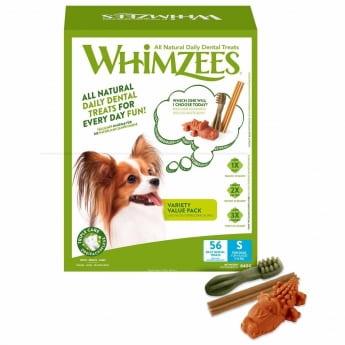 Säästöpakkaus Whimzees S, 56 kpl