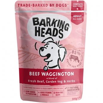 Barking Heads Beef Waggington wet, 300g