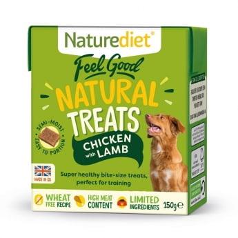 Naturediet Treat kana & lammas 150 g