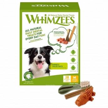 Säästöpakkaus Whimzees M, 28 kpl