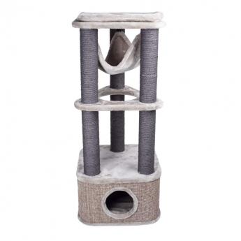 Kissan raapimapuu Basic Meowllow 120cm, harmaa