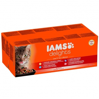 IAMS Delights Jelly Land&Sea Multipack 48x85g