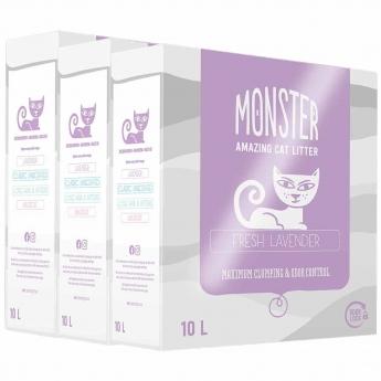 Kissanhiekka Monster Lavendel 3 x 10l