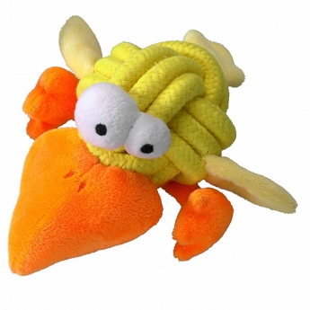 Koiranlelu Coockoo Bobble, keltainen