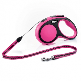 Flexi New Comfort Cord M, 8 m / 20 kg (Pinkki)