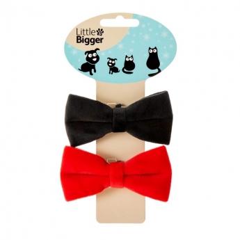 Little&Bigger XFestive-rusetti 2 kpl (Punainen/Musta)